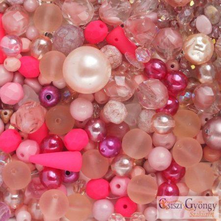 Csiszi Gyöngymix: rózsaszín - 20 g - cseh üveggyöngyök