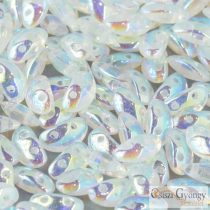 Crystal AB - 20 pcs. - Mobyduo beads, 3x8mm