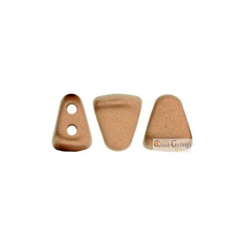 Matte Met. Bronze Copper - 5 g (kb. 27 db) - Nib-Bit gyöngy 6x5mm (K0178)