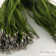 Oliva - 1 db - organza és 2 db kordszál nyaklánc alap 43 cm hosszú