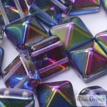 Magic Blue - 5 db - Pyramid gyöngy 12x12mm (95100)