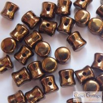Bronze - 30 db - Pellet gyöngy, mérete: 4x6 mm