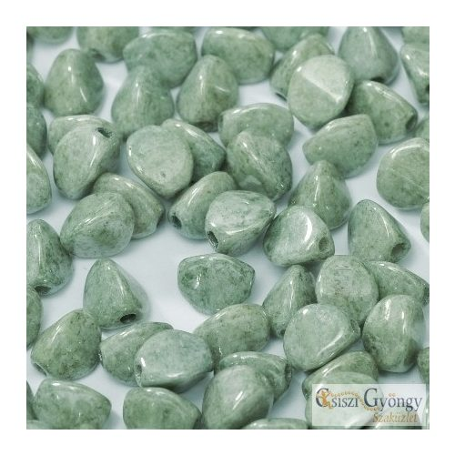 Luster Moss Green - 5 g - Pinch gyöngy, mérete: 3x5 mm (14459)