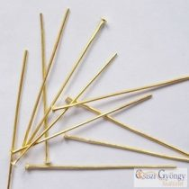 Headpins - 30 Stk. - golden color, size: 5 cm long, 0,7 mm thick (Nickel Free)