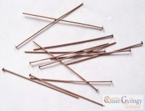 Headpins - 30 pc. - bronze color, size: about 5 cm long, 0.7mm thick