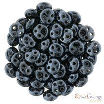 Hematite - 20 pc. - Quadra Lentil Beads, 6 mm (L23980)