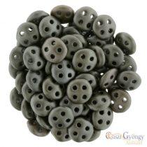 Matte Metallic Leather - 20 Stück - Quadra Lentil Perlen, 6 mm (K0167)