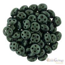 Metallic Suede Dark Forest - 20 pc. - Quadra Lentil Beads, 6 mm (79052MJT)