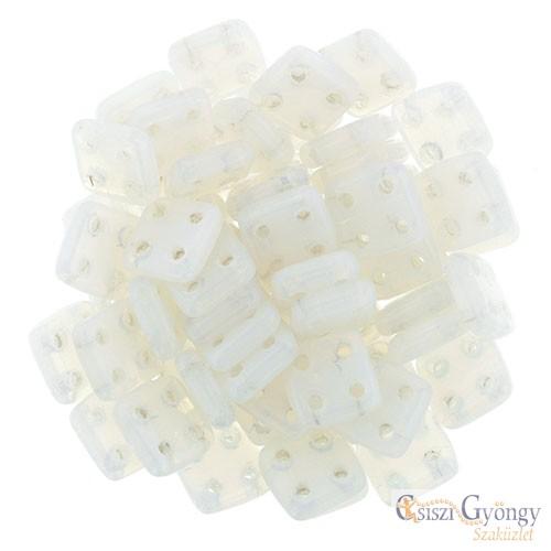 Alabaster - 20 db - Quadra Tile gyöngy, mérete: 6x6 mm (02010)
