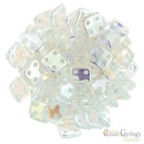 Crystal AB - 20 pc. - Quadra Tile Beads, size: 6 mm (X00030)