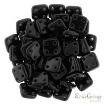 Jet - 20 pc. - Quadra Tile Beads, size: 6 mm (23980)