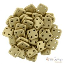 Matte Metallic Flax - 20 pc. - Quadra Tile Beads, Size: 6 mm (K0171)