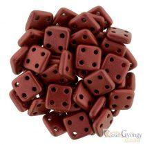 Matte Metallic Lava red - 20 db - Quadra Tile gyöngy, mérete: 6x6 mm (K0189)