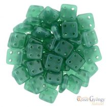 Alabaster Malachite Green - 20 pc. - Quadra Tile Beads, size: 6x6 mm (52060)