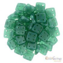Alabaster Malachite Green - 20 Stück - Quadra Tile Perlen, Grösse: 6x6 mm (52060)