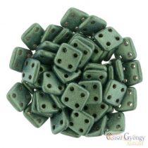 Metallic Suede Lt. Green - 20 Stück - Quadra Tile Perlen, Grösse: 6 mm (79051MJT)