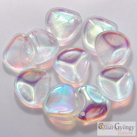 Crystal AB - 1 db - Rose Petals 8x7mm
