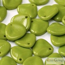 Opaque Dark Lime Green - 1 Stk. - Rose Petals 8x7 mm