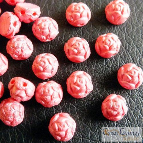 Pastel Pink - 1 db - Rosetta Cabochon 6 mm