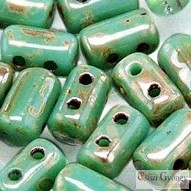 Turquoise Picasso Silver - 10 g - Rulla Beads 3x5mm (TP63130)