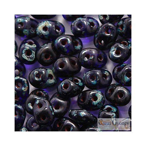 Cobalt Picasso - 10 g - SuperDuo 5x2 mm (T30090)