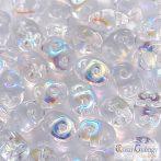Transparent Crystal AB - 10 g - SuperDuo 5x2 mm (X00030)