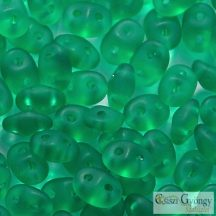 Matte Emerald - 10 g - Superduo gyöngy 2.5x5mm (M50720)