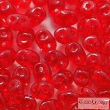 Transparent Siam Ruby - 10 g - SuperDuo 2.5x5 mm (90080)