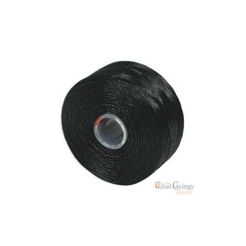 Fekete - 1 db - S-lon AA gyöngyfűző cérna (kb. 68 méter)