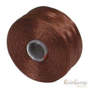 Sienna (Vörösbarna) -  1 db - S-lon AA gyöngyfűző cérna (kb. 68 méter)