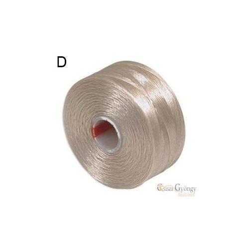 Bézs - 1 db - S-lon D gyöngyfűző cérna (kb. 71,5 méter)