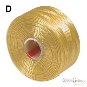 Aranysárga - 1 db - S-Lon D gyöngyfűző szál, hossza kb. 71,5 méter