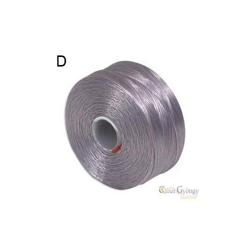 Világos Lila - 1 db - S-lon D gyöngyfűző cérna (kb. 71,5 méter)