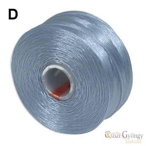Világos kék - 1 db - S-lon D gyöngyfűző cérna, kb. 71,5 méter