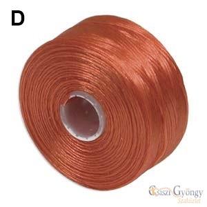 Narancs - 1 db - S-lon D gyöngyfűző szál, 71,5 méter