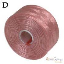 Pink - 1 db - S-lon D gyöngyfűző cérna, 71,5 méter