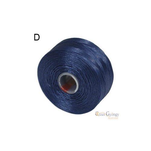 Királykék - 1 db - S-lon D gyöngyfűző cérna (kb. 71,5 mm)