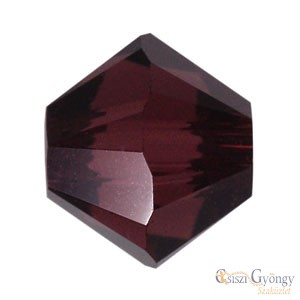 Burgundy - 1 db - Swarovski Bicone 4 mm (5328)