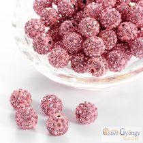 Rose Shamballa gyöngy - 1 db - mérete:10 mm, furat 1mm