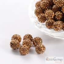 Cappuccino Shamballa Beads - 1 pc. - size: 10 mm