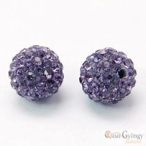 Lila Shamballa Beads - 1 pcs. - size: 10 mm