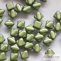 Pastel Olivine - 20 db - Silky gyöngy, 6 mm