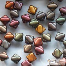 Matte Met. Rainbow - 20 db - 6 mm Silky gyöngy (01640)
