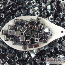 Gunmetal - 10 g - 4 mm Miyuki Square kocka gyöngy