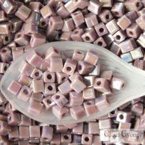 Opaque Mauve AB - 10 g - 4 mm Miyuki Square Beads