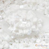 Ceylon Pearl White - 10 g - 4 mm Miyuki Square Beads
