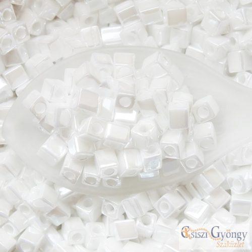 Ceylon Pearl White - 10 g - 4 mm Miyuki Square kocka gyöngy