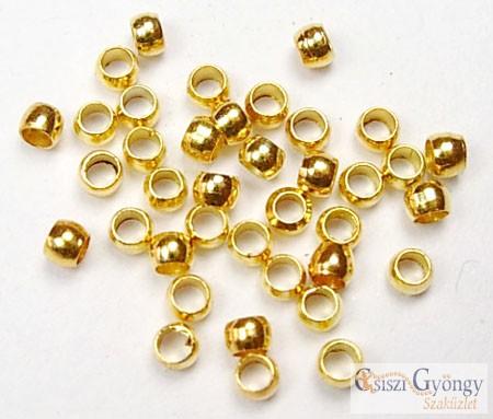 Stopper - 5 g - arany színű, 2 mm (Nikkel mentes)
