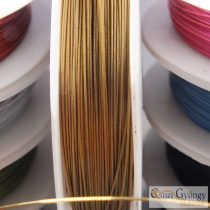 Bronze Color - 1 Roll - Tiger Tail stainless wire, 0.45mm, ca. 10 meter