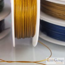 Gold Color - 1 Roll (10 meter) -  Jewelry Wire, size: 0.4mm